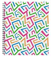 Тетрадь общая с пластиковой обложкой на спирали Lines, А5+, 60 листов, клетка
