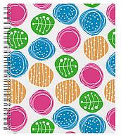 Тетрадь общая с пластиковой обложкой на спирали Buttons, А5+, 60 листов, клетка