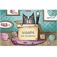 Альбом для рисования на клею Cat&Box, А4, 30 листов