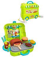 """JD Toys: Игр.н-р """"Мобильная пиццерия"""" в чемодане на колесиках, 30 пр."""