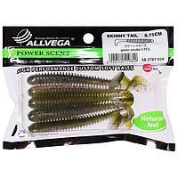 Приманка съедобная Allvega Skinny Tail 8,75 см, 5 г, green smoke 5 шт.