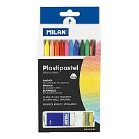 Набор 12 пастельных карандашей, ластик, точилка