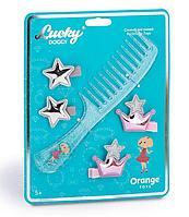 Lucky doggy: Набор аксессуаров для волос. Расчёска с Пуделем