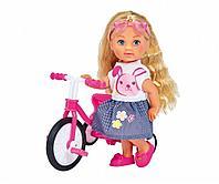 Simba: Кукла Еви на трехколесном велосипеде, 12см,