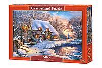 Castorland: Пазлы Зимний коттедж, 500эл.