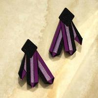 Серьги из акрила 'Александрит', цвет фиолетовый
