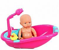 Пупс 28 см, игровой набор с ванной и уточкой, игрушка для купания