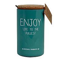 """Свеча ароматическая """"Enjoy life to the fullest"""". Восточный мандарин"""