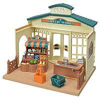 Sylvanian Families: Продуктовый магазин, касса, аксессуары, продукты, игровой набор, подарок девочке