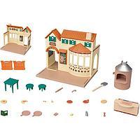 Sylvanian Families: Пиццерия, печь, пицца, мебель, игровой набор, подарок девочке