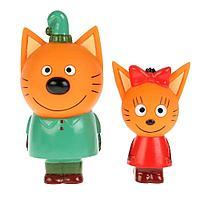 Три кота: Игрушка пластизоль для ванны Три Кота Карамелька и Компот