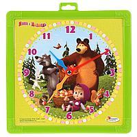 Играем вместе: Доска для рисования Маша и Медведь часы+фломастер