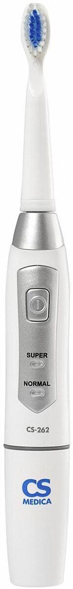 CS Medica: Электрическая звуковая зубная щетка CS Medica CS-262, белый-серебристый - фото 1