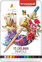 Набор карандашей цветных BRUYNZEEL 12 шт., мет. коробка