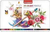 Набор карандашей цветных BRUYNZEEL 36 шт., мет. коробка