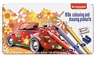 Набор карандашей цветных BRUYNZEEL 60цв. С ластиком и точилкой. мет.коробка
