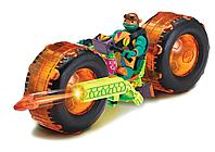 TMNT: Rise of the Turtles. Мотоцикл с фигуркой Майки