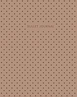 Блокнот Bullet Journal (Коричневый) 162x210мм, твердая обложка, пружина, блокнот в точку, 120 стр.
