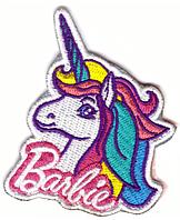 Наклейка-патч для одежды Барби, единорог 1