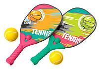"XWSport: Теннис ""Классический"", зелено-розовый с мячиком."