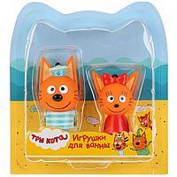 Три кота: Набор из 2-х игрушек для ванны, Карамелька+Коржик на блистере