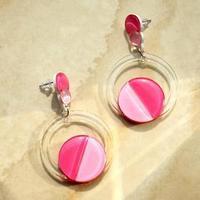 Серьги из акрила 'Невесомость', цвет розовый
