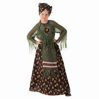 Костюм 'Баба-Яга зеленая', головной убор, блузка, юбка, нос, р.56 рост 98-104
