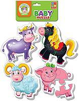 Vladi Toys: Мягкие пазлы Baby puzzle Ферма