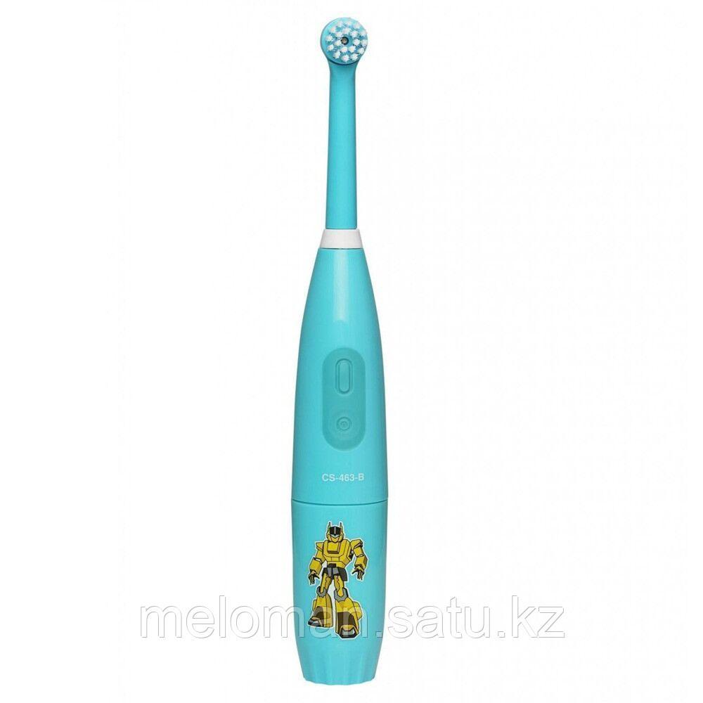 CS Medica: Электрическая звуковая зубная щетка CS-463-B Kids. 5-12 лет, бирюзовый - фото 1