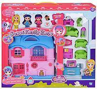 Игровой набор кукольный домик со светом и звуком, мебель, 3 куклы, для девочек/зеленый