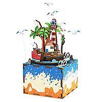 Деревянные 3D пазлы Музыкальная шкатулка Wocation Island