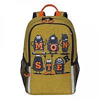 Рюкзак школьный для мальчика Monster, табачный