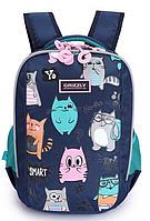 Рюкзак школьный для девочки Cat Smart, темно-синий