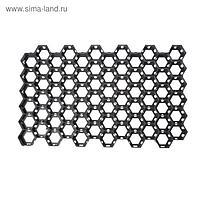 Решётка газонная, 68 × 41 × 3,3 см, с колышками, класс нагрузки С250 до 25 т., чёрная