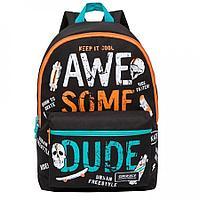 Рюкзак подростковый для мальчика Awe Some Dude, черный