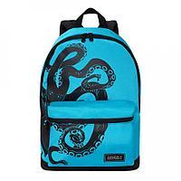 Рюкзак подростковый для мальчика Осьминог, голубо-черный