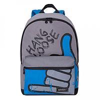 Рюкзак подростковый для мальчика Hang Loose, серо-голубой