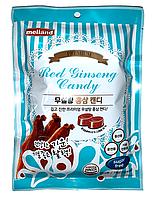 "Карамель Melland ""Premium Red Ginseng Candy Sugar free"" без сахара со вкусом красного женьшеня 74г (Корея)"