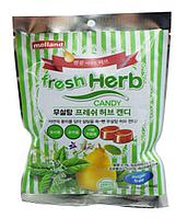 """Карамель Melland """"FreshHerb candy Sugar free"""" без сахара со вкусом мяты, айвы, грейпфрута, лайма 74г (Корея)"""