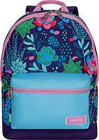 Рюкзак подростковый для девочки Кактусы с цветами