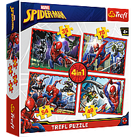 "TREFL: пазл 4-в-1 серии Spiderman ""В сети Человека -паука"""