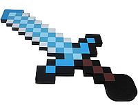 Minecraft: Меч Королевский алмазный пиксельный 60см