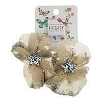 Lukky: Lukky Fashion резинки для волос бантик с блестками, 2шт