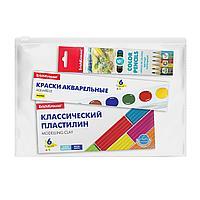 Набор для творчества ErichKrause (3 предмета), (краски акварельные, пластилин, цветные карандаши)