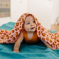 Tommy Lise: Муслиновая пеленка Coral Leopard 120*120 см (100% хлопок)