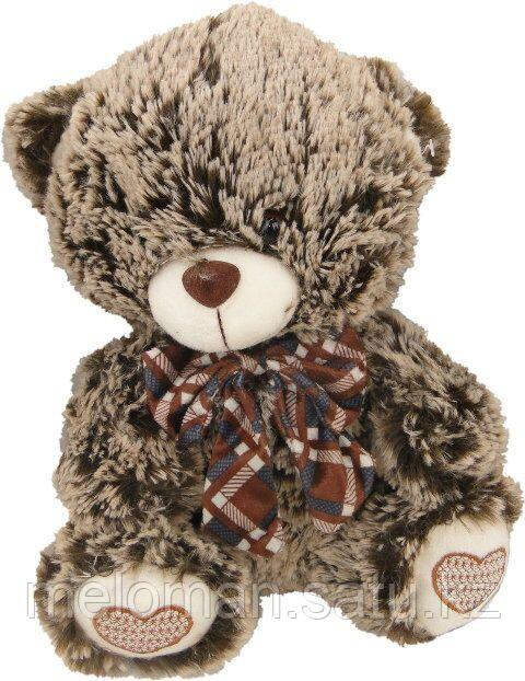"Plush: Мягкая игрушка ""Медвежонок с бантом"" светло коричн./ черн., 30 см в асс. - фото 1"