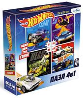 Origami: Пазл Hot Wheels Команда Скорость. Набор 4в1 9-16-25-36Эл.