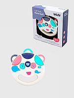 Развивающая игрушка для малышей, интерактивная музыкальная погремушка Бубен