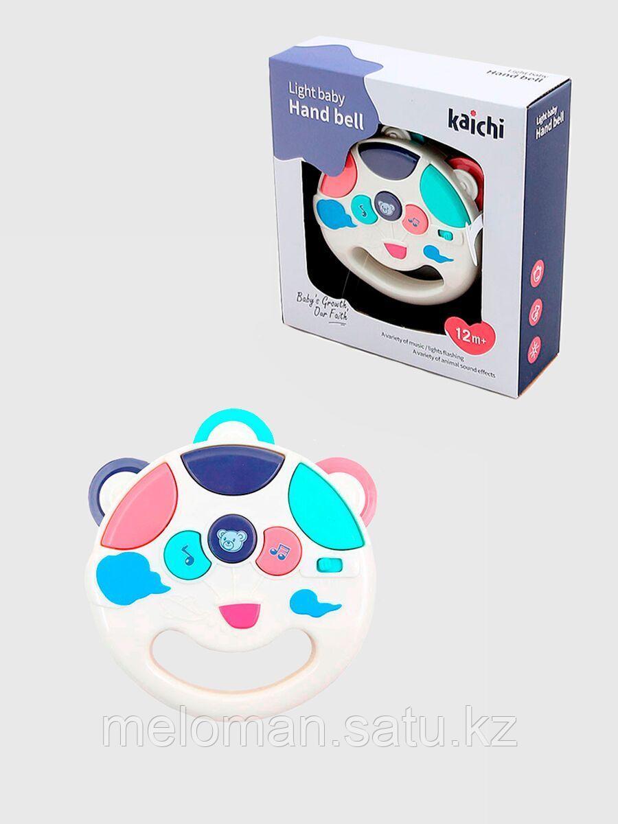 Развивающая игрушка для малышей, интерактивная музыкальная погремушка Бубен - фото 1