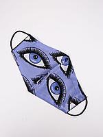 Маска текстильная многоразовая для лица Purple eye